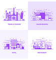 flat line purple designed concepts 6 vector image