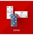 Game with domino in flat design style vector image vector image