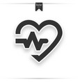 gray heart icon with sign heartbeat vector image vector image