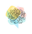 hand drawn flower with colorful abstract vector image vector image