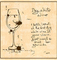 Hand drawn White Wine vector image