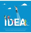 Idea concept of business people vector image vector image