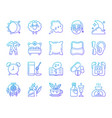insomnia simple color line icons set vector image vector image