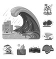 isolated object of natural and disaster logo vector image