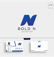 letter n bold creative logo template with vector image