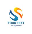 letter s 3d logo template s trend logo vector image vector image