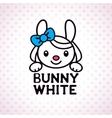little white bunny girl vector image vector image
