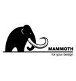Mammoth icon vector image