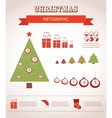 merry christmas infographics vector image vector image