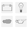 Monochrome icons with road symbols vector image vector image