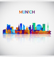 munich skyline silhouette in colorful geometric vector image vector image