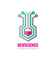 new science - logo template concept vector image