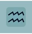 Pale blue Aquarius icon vector image vector image