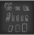 phone evolution hand-drawn vector image vector image