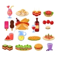 Picnic Food And Drink Set vector image vector image