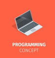 programming and software development concept vector image