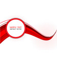 red wave abstract background graphic design vector image