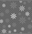 seamless pattern with falling snow vector image vector image