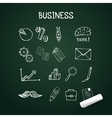 Set of business doodles icons hand drawn with vector image vector image