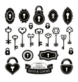Set of different vintage keys vector image