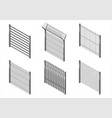 set of metal fences vector image