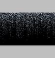 silver confetti falling glitter snow shine vector image vector image