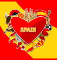 spain background design spanish traditional vector image vector image