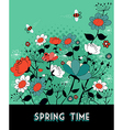 Spring time garden background vector image