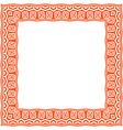 Square frame with ethnic ornament vector image