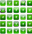 Square green gps icons vector image vector image