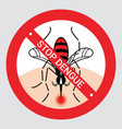 stop mosquito bite to protect dengue fever concept vector image vector image