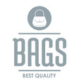 store bags logo simple gray style vector image