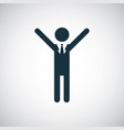 success icon simple flat element design concept vector image vector image