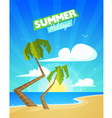 Summer Cartoon Background vector image