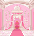Throne room of magic castle vector image vector image