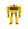 toy robot transformer icon flat isolated vector image vector image