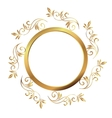 Vintage frame Circular baroque pattern Round vector image