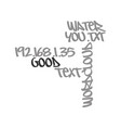 water it s good for you text word cloud concept vector image vector image