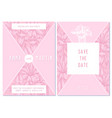 wedding invitation card with pink gentiana vector image vector image