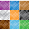 set - color seamless patterns with crossed lines vector image
