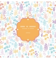 Colorful flowers and plants frame seamless pattern vector image
