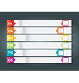 Set of numbered bookmarks stickers vector image