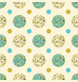 seamless background of circles vector image