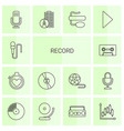 14 record icons vector image vector image