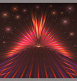 abstract background with bursts laser rays vector image vector image