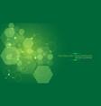 abstract green technology energy hexagon vector image
