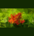 abstract irregular polygonal background green vector image vector image