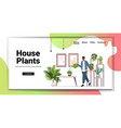 african american man with watering can taking care vector image vector image