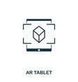 ar tablet icon mobile app printing web site vector image vector image