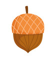 autumn acorn seed isolated icon design vector image vector image